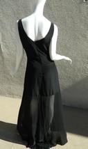 Yaya Nom De Plume Dress Urban Outfitter Black Maxi Sheer bottom Dress Si... - £26.51 GBP