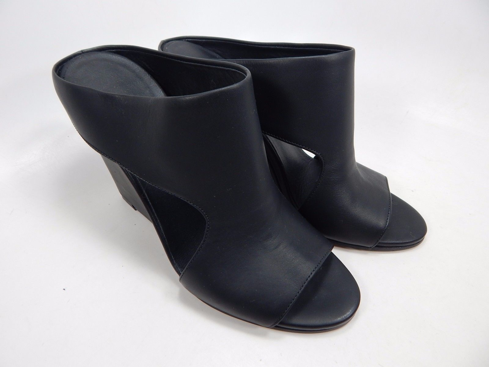 Vince Kaya Open Toe Wedge High Heel Mule Women's Size US 5.5 Black $395