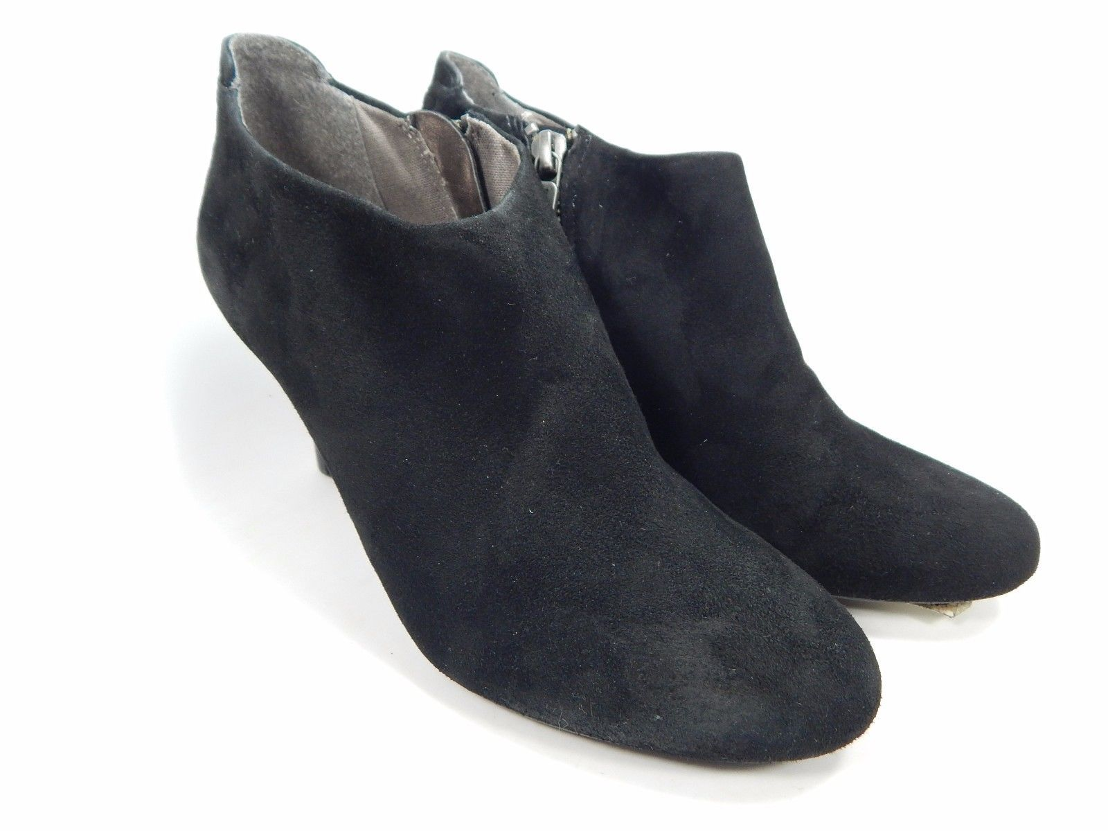 DKNY Samira Suede Ankle Booties Women's Size US 6 M (B) Black $149