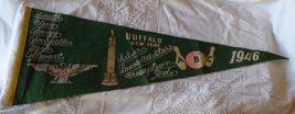 Vintage Souvenir Felt Pennant 1946 ABC Bowling Tournament Buffalo NY Sports Bar