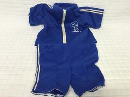 VTG Blue SNOOPY Jacket &Shorts Set Matching Varisty Track Suit 1958 Clothes - $24.95
