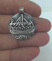 Viking Ship, Drakkar Necklace, Viking Jewelry, Nordic, Scandinavian Pendant - $65.00