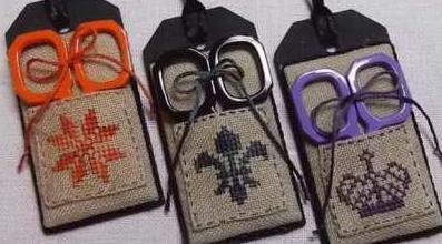 Gems Keep II Necklace Kit cross stitch chart The Primitive Jewel