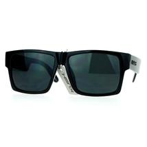 KUSH Sunglasses Square Retangular Black Frame Dark Black Lens UV 400 - $7.87+