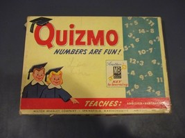 Vintage QUIZMO Milton Bradley Game In The Original Box And In Good UsedC... - $11.87