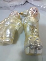2 Dept 56 Hand Blown Glass Christmas Ornaments  - Snowbabies - $9.15