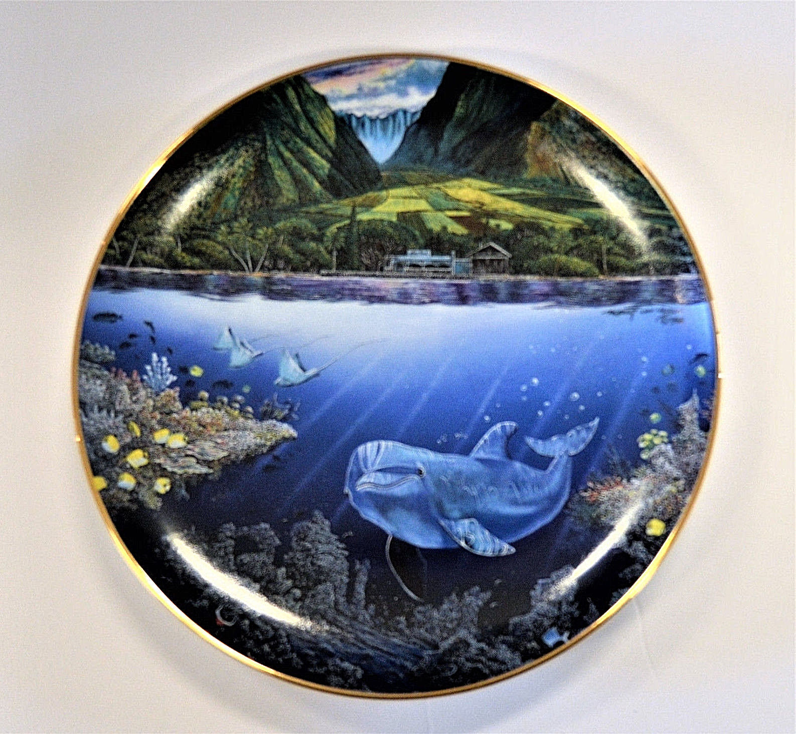 Danbury Mint Underwater Paradise Plate Set Robert Lyn Nelson with Boxes Lot of 5 image 5