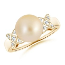 Vintage Style Cultured Silver/Golden South Sea Pearl Diamond Engagement ... - $302.82+