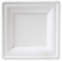 Susty Party 10-Inch Compostable Square Plates, 50-Count, Sugarcane Fiber... - $35.87