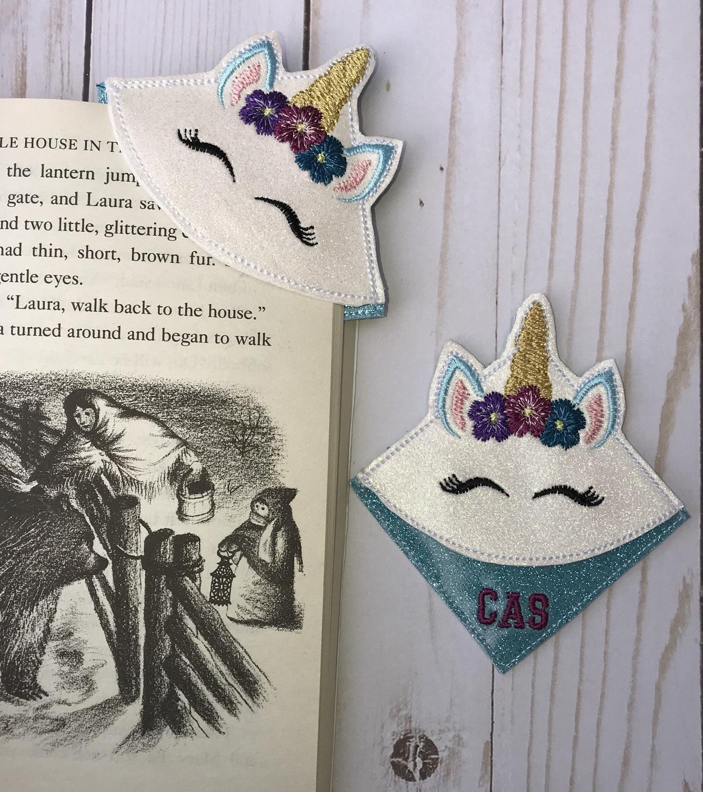 Corner page Unicorn bookmark