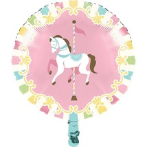 "Carousel Baby Shower Foil Mylar Balloon 18"" - $5.22"