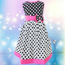 GIRLS KIDS FASHION CUTE MINNIE PRINCESS MULTICOLOR DOTS CHILDREN DRESS 1019 - $25.99