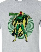 The Vision tee shirt retro bronze age marvel comics avengers graphic t shirt image 1