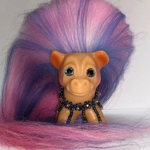 VINTAGE DAM HORSE TROLL ~ FRESH FROM THE TROLL SPA ~ NEW HAIR AND SPARKLE EYES! image 2