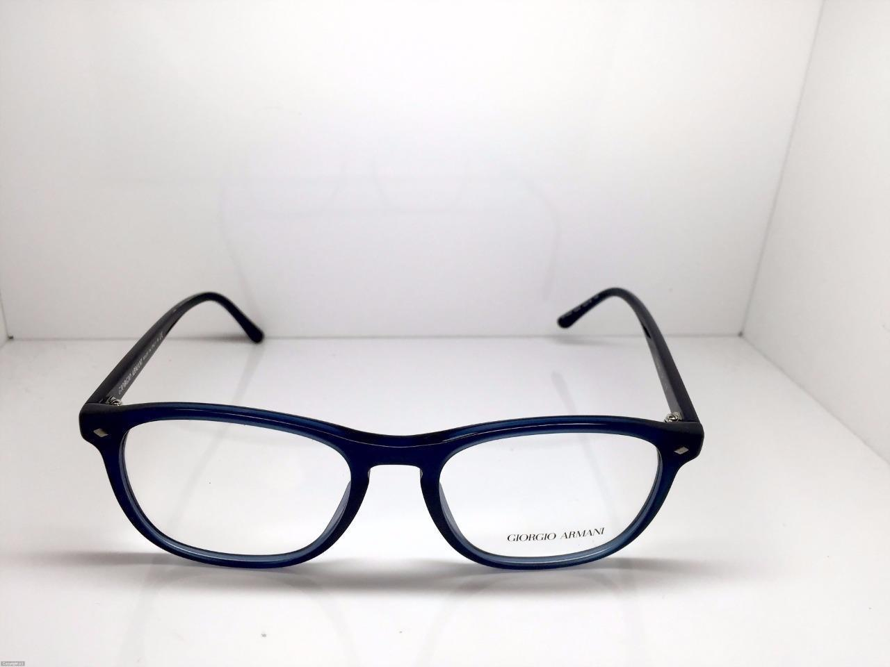 9154f65f70a GIORGIO ARMANI Eyeglasses AR 7003 5004 Matte Black and Blue Transparent 52MM