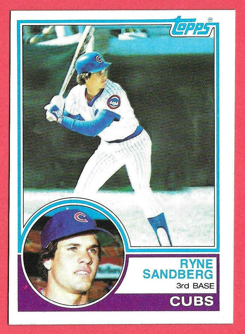 1983 Ryne Sandberg Topps Rookie #83 - Chicago Cubs Baseball Hall of Fame - $14.24