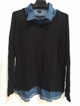 FADED GLORY Women's NWOT Blue & Black Sweater Shirt SIZE: XXL (2XL) - $13.25