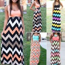 Sexy Women Summer Long Maxi Boho Evening Party Dress Beach Dresses Sundress - $13.75