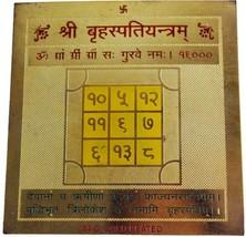 Highly Energized Brass Small Size Shri Brihaspati Guru Yantra For Happy ... - $9.09
