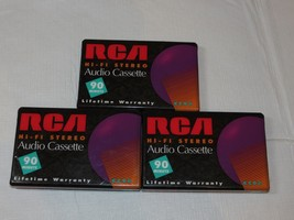 Lot of 3 RCA Hi-Fi Audio Cassette RC90 90 Minutes Cassette Tapes Tape NEW - $34.64