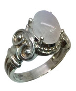 Rainbow Moonstone Silver Ring, Free Sizing - $49.00