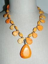 VTG Silver Tone Orange Turquoise Howlite Southwestern Necklace 101g - $198.00