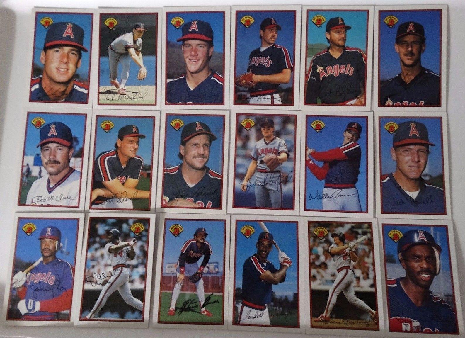 1989 Bowman California Angels Team Set 18 And 17 Similar Items