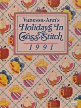 """Hard Covered Book - """"Holidays in Cross-Stitch 1991"""" - Vanessa-Ann - Gent... - $18.00"""