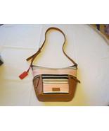 Fossil ZB6794678 Emerson Fabric Small Hobo Pink Stripe xbdy handbag purse NWT ^ - $186.46