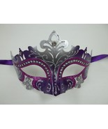 Purple Silver Princess Laser Cut Mardi Gras Masquerade Mask Free Shipping - $18.95