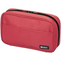 LIHIT LAB Pen Case, 7.9 x 2 x 4.7 inches, Coral A-7551-103 - $12.19