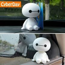 Baymax Robot Sheaking Big Head Car Figure Doll Cartoon Action Hero Cute ... - €2,35 EUR