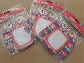 ec3d817af1a Ugly Christmas Sweater Reindeer Kissing Shaped Notepad LOT 3 NEW - Crown...  -