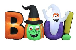 8 Foot Long Halloween Inflatable Witch Ghost BOO Outdoor Party Yard Deco... - $99.00