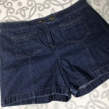Ann Taylor Loft Shorts Denim Mini Jean 100% Cotton Womens Size 10 B22 - $18.51