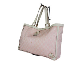 Authentic GUCCI GG Pattern Canvas Leather Pink Shoulder Bag GS1901 - $219.00