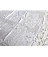 VTG Madeira White Cotton Embroidery cut work Decor Accent Table Cloth 82X64 - $84.15