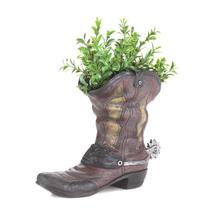 Patio Planters, Decorative Outdoor Planters, Polyresin Cowboy Boot Planter - $26.03