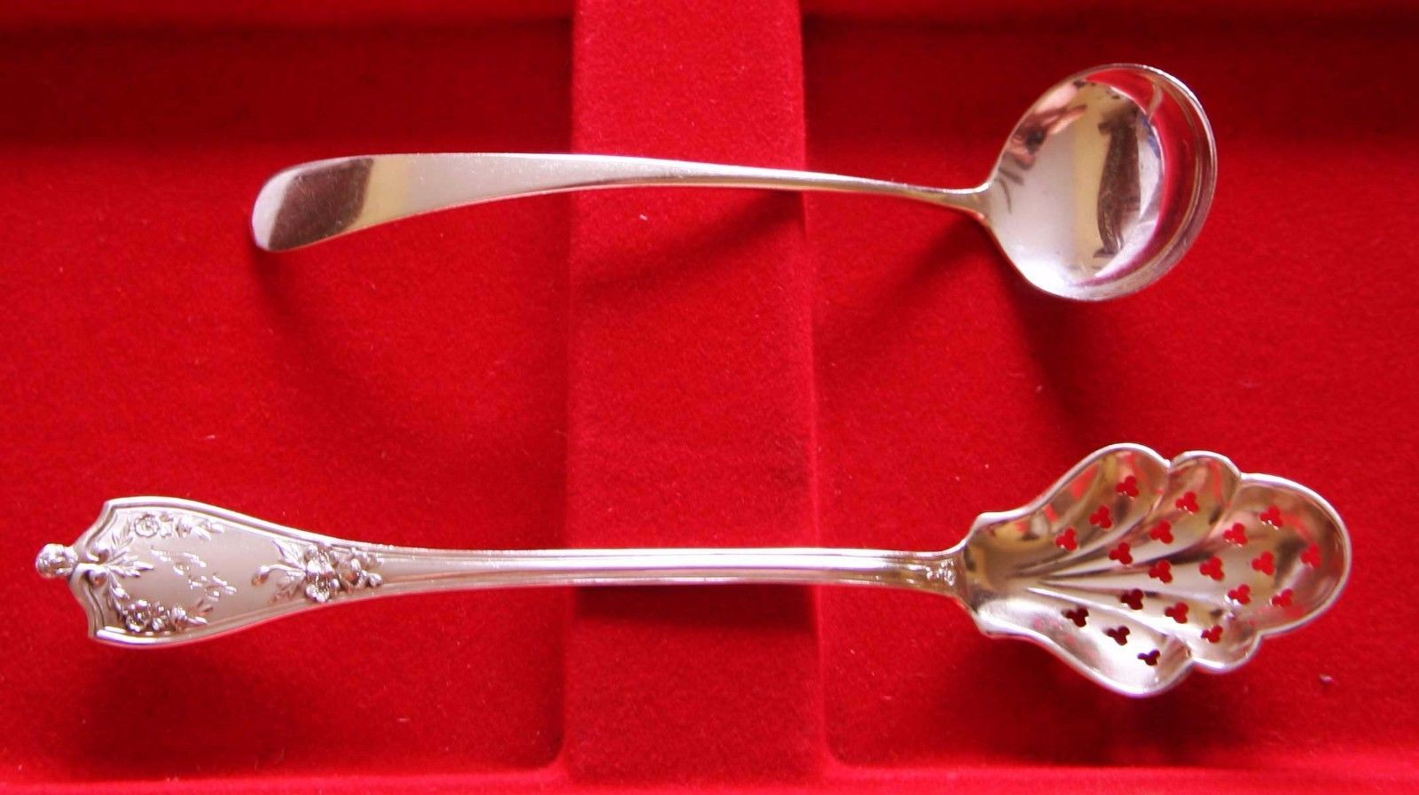 2 Vintage Sterling Silver Beautiful Serving Spoons Lot# N 407