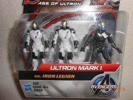 NEW Marvel Avengers Age of Ultron MARK 1 vs IRON LEGION 3 FIGURES TOYS C... - $8.42