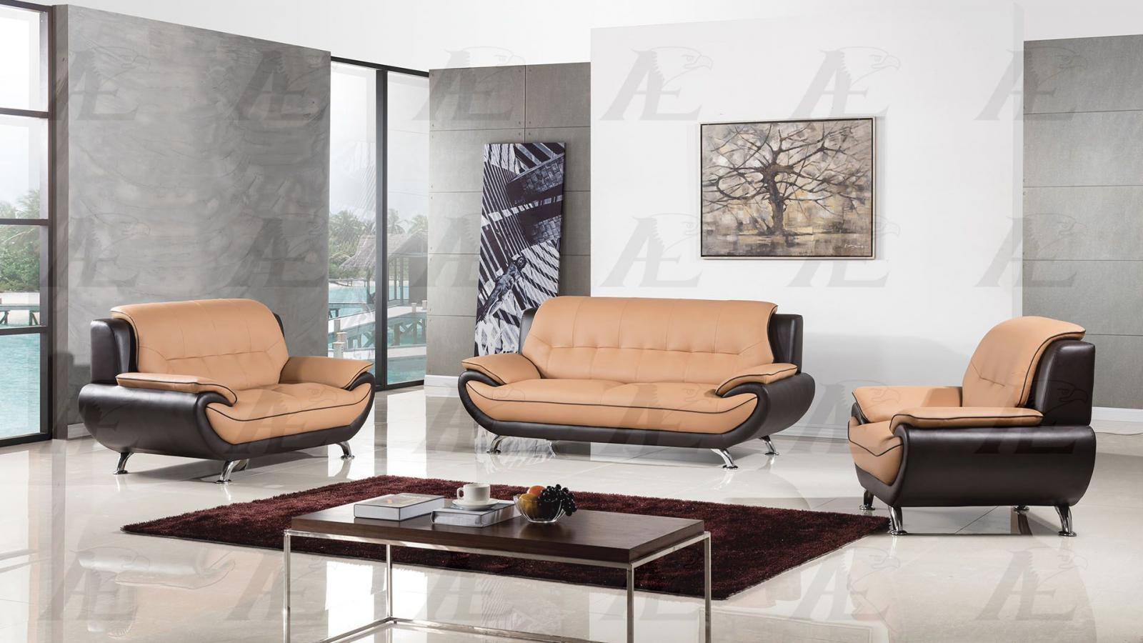 American Eagle Furniture AE208 Sofa Loveseat and Chair Contemporary Modern  3pc