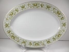 "Sango SAVANNAH GOLD Oval 14"" Oval Serving Platter Japan #3723 - $29.67"