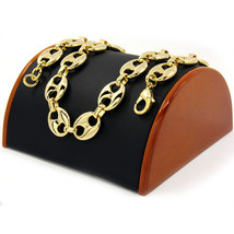 """Men's 14k Gold Plated 18mm 30"""" Round Byzantine Chain Heavy Hip Hop Style... - £27.64 GBP"""
