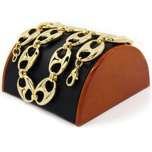 """Men's 14k Gold Plated 25mm 30"""" Round Byzantine Chain Heavy Hip Hop Style... - $45.53"""