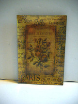 "RARE~Kimberly Poloson's~""Bel Bouquet IV""~Decoupaged in Gold Foil on Rect... - $20.00"