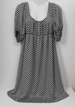 New w/o Tags~H&M~Sz 6~Black & White Geometric Design~Empire Waist Lgtwgt... - $25.00