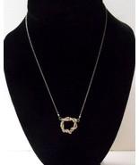 """Hand Crafted~Silver Wire Interlocking Spirals Pendant~17"""" SP Chain Link ... - $10.00"""