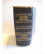 Antique~Leather Bound~1890 Pronouncing Parallel Bible Dictionary & Citie... - $199.50