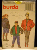 New in Package~1990's~Burda~#4487~Unisex Child/Juniors Sz 8-16~Jacket Pa... - $7.95