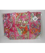 New w/Tag~Vera Bradley Pink Swirls HUGE Tote/Travel/Laptop Bag w/Pleathe... - $77.95
